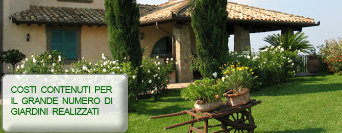 Realizzazione e manutenzione di giardini e terrazzi for Realizzazione giardini privati